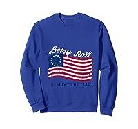 Usa Vintage Betsy Ross American Flag Shirt Art 13 Stars Flag T Shirt Sweatshirt Royal Blue