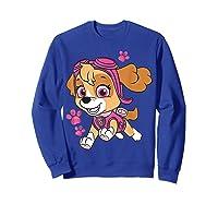 Paw Patrol Skye Jumping T-shirt Sweatshirt Royal Blue