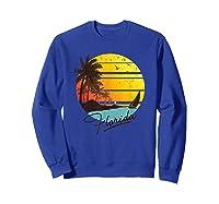 Florida Sunshine State Retro Summer Tropical Beach Shirts Sweatshirt Royal Blue