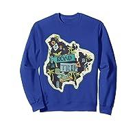 Road Trip 2019 Family Summer Vacation Hippie Van Surf Gift Zip Shirts Sweatshirt Royal Blue