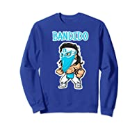 Feel Ink Bandido Bandit Lucha Libre Mexican Pro Wrestler Premium T Shirt Sweatshirt Royal Blue