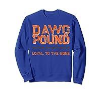 Dawg Pound Shirt Loyal Bone T-shirt Sweatshirt Royal Blue