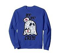 Vintage Boo Boo Crew Funny Halloween Ghost Nurse Nursing Shirts Sweatshirt Royal Blue