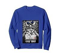 Pixar Wall E Tile Portrait Shirts Sweatshirt Royal Blue