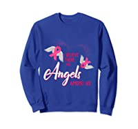 I Believe There Are Angels Among Us Breast Cancer Awareness T Shirt Sweatshirt Royal Blue