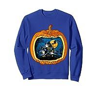 Funny Pumpkin Vintage Halloween Pumpkin Costume Shirts Sweatshirt Royal Blue