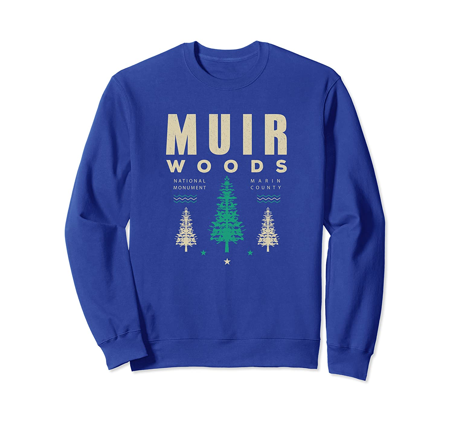 Vintage Muir Woods National Park Hiking Camping Sweat Shirt-TH