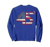 Trump 45 Squared 2020 Second Presidential Term Gift Shirts Sweatshirt Royal Blue