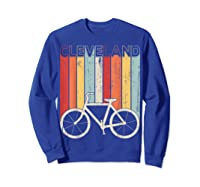 Retro Vintage Cleveland City Cycling Shirt For Cycling Lover Sweatshirt Royal Blue