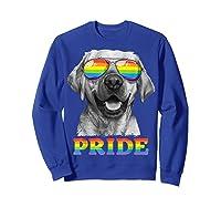 Labrador Gay Pride Lgbt Rainbow Flag Sunglasses Funny Lgbtq Shirts Sweatshirt Royal Blue