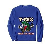 T Rex Arms Trick Or Treat Halloween Shirts Sweatshirt Royal Blue