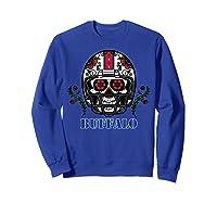 Buffalo Football Helmet Sugar Skull Day Of The Dead T Shirt Sweatshirt Royal Blue
