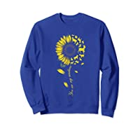 You Are My Sunshine Sunflower Goat For Woman Shirts Sweatshirt Royal Blue