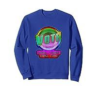 Anti Trump Vote Detergent Funny Watercolor Vintage T Shirt Sweatshirt Royal Blue