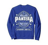 Pantera Stronger Than All Beer Mat Shirts Sweatshirt Royal Blue