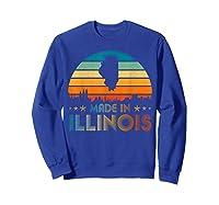 Vintage Made In Illinois Shirts Sweatshirt Royal Blue