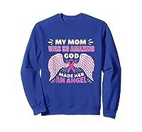 Mother S Memory Breast Cancer Awareness Month Pink Ribbon Tank Top Shirts Sweatshirt Royal Blue
