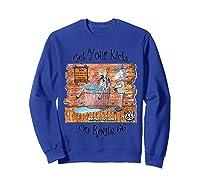 Bathing Burro Shirts Sweatshirt Royal Blue