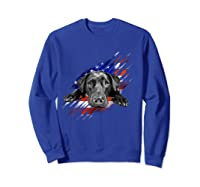 Black Labrador Usa Flag Lab Owner Bird Duck Hunter Gift Shirts Sweatshirt Royal Blue