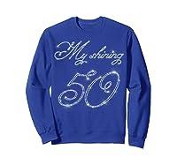 50th Birthday Gift Retro Vintage Shirt - My Shining 50 Sweatshirt Royal Blue