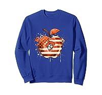 Oklahoma State Cow Nation Flag T Shirt Sweatshirt Royal Blue