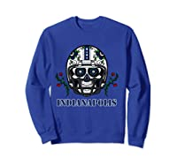 Indianapolis Football Helmet Sugar Skull Day Of The Dead T Shirt Sweatshirt Royal Blue