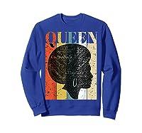 African American Queen T Shirt Black History Urban Soul Tees Sweatshirt Royal Blue