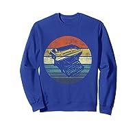 Writer Author Gifts Funny Retro Typewriter Writing T Shirt Sweatshirt Royal Blue