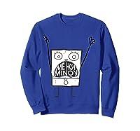Spongebob Squarepants Doodlebob Me Hoy Minoy Mouth T-shirt Sweatshirt Royal Blue