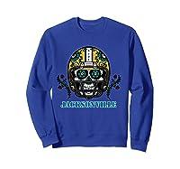 Jacksonville Football Helmet Sugar Skull Day Of The Dead T Shirt Sweatshirt Royal Blue