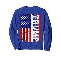 Donald Trump 2020 Vintage Usa Flag Shirts Sweatshirt Royal Blue