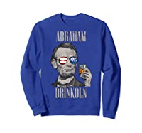 4th Of July Shirts For Abraham Drinkoln Abe Lincoln Tee T Shirt Sweatshirt Royal Blue