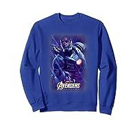 Marvel Avengers Endgame War Machine Galactic Poster T-shirt Sweatshirt Royal Blue
