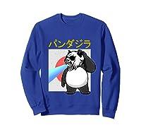 Japanese Vintage Panda Bear Retro Halloween Costume Shirts Sweatshirt Royal Blue
