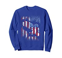 American Flag Eagle For Proud Americans On 4th July Shirts Sweatshirt Royal Blue