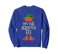 I'm The Serious Elf Christmas Xmas Funny Elf Group Costume Shirts Sweatshirt Royal Blue