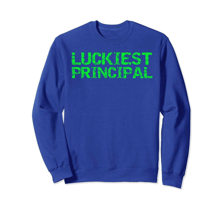 Green St. Patrick's School Clothing Green Luckiest Principal Sweatshirt-Yolotee
