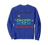 Disney Pixar Toy Story Pizza Planet Aliens T-shirt Sweatshirt Royal Blue