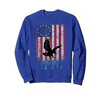 Betsy Ross Shirt 4th Of July American Flag Tshirt 1776 Eagle Sweatshirt Royal Blue