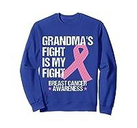 Breast Cancer Awareness Month Grandmas Fight Grandma Gift T Shirt Sweatshirt Royal Blue