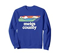 Meigs County Tennessee Outdoors Retro Nature Graphic T Shirt Sweatshirt Royal Blue