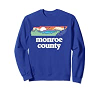 Monroe County Tennessee Outdoors Retro Nature Graphic T Shirt Sweatshirt Royal Blue