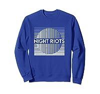 Night Riots Title Shirts Sweatshirt Royal Blue
