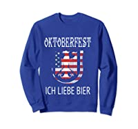 German Eagle Deutschland Us Flag Oktoberfest Shirts Sweatshirt Royal Blue