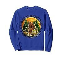 Sasquatch Drinking Team Drink Till You Believe Tshirt Sweatshirt Royal Blue
