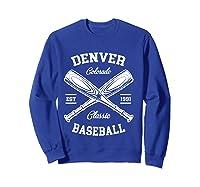 Denver Baseball, Classic Vintage Colorado Retro Fans Gift T-shirt Sweatshirt Royal Blue