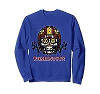 Washington Football Helmet Sugar Skull Day Of The Dead T Shirt Sweatshirt Royal Blue
