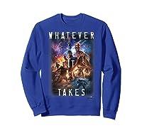Marvel Avengers Endgame Movie Poster Whatever It Takes T-shirt Sweatshirt Royal Blue