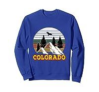 Vintage Outdoor Lovers Colorado Mountains Retro T-shirt Sweatshirt Royal Blue