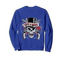 Guns N' Roses Top Hat Skull T-shirt Sweatshirt Royal Blue